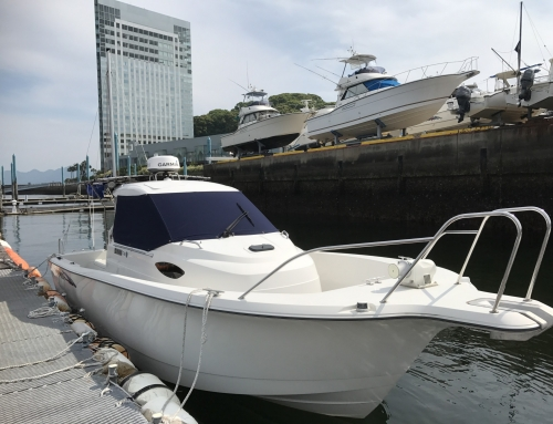 施工 釣りネコ.com ヤンマーFW27に GPSMAP1022xsv + バードレーダーGMR18xHD + ステディーキャスト取付!