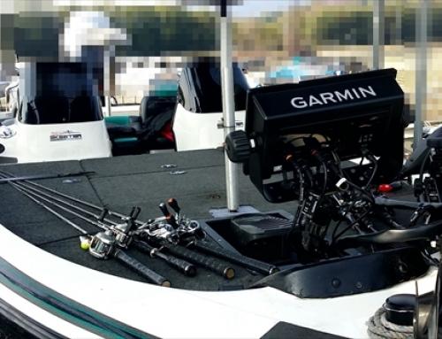 滋賀 琵琶湖 ガーミン魚探代理店(株)フロントラインプロダクション バスボートへGPSMAP搭載